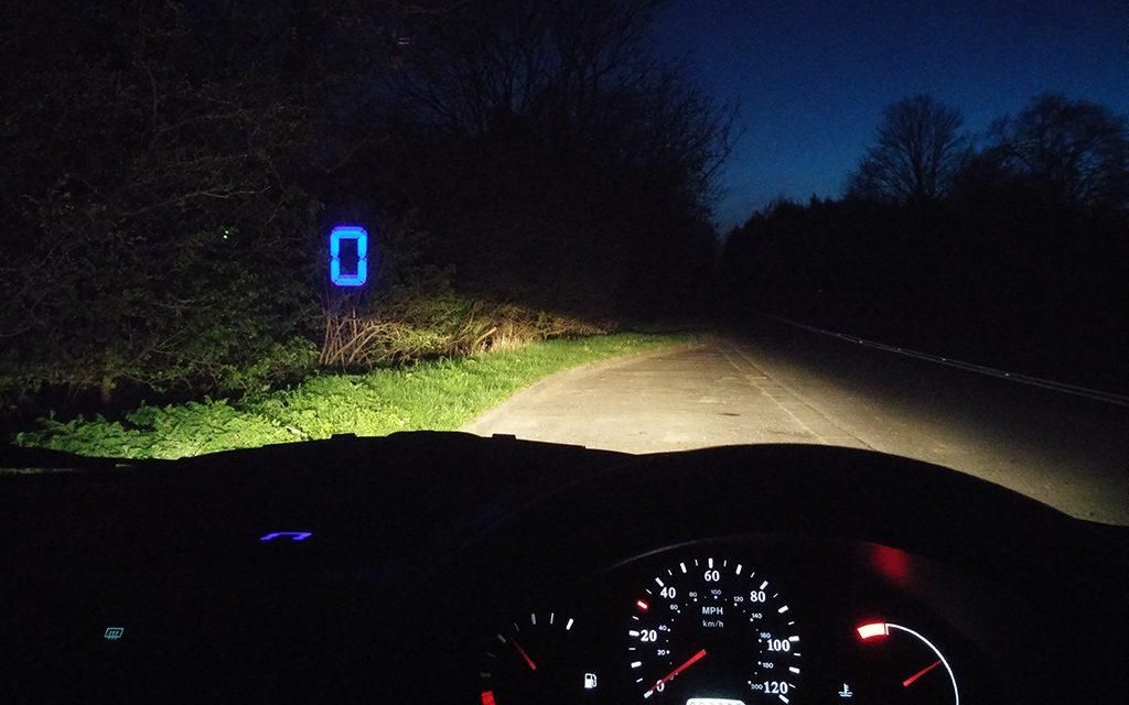 HUD mode at night.